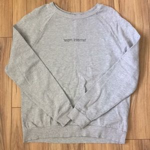 "Divided (H&M) ""Team Internet"" crew neck sweatshirt"